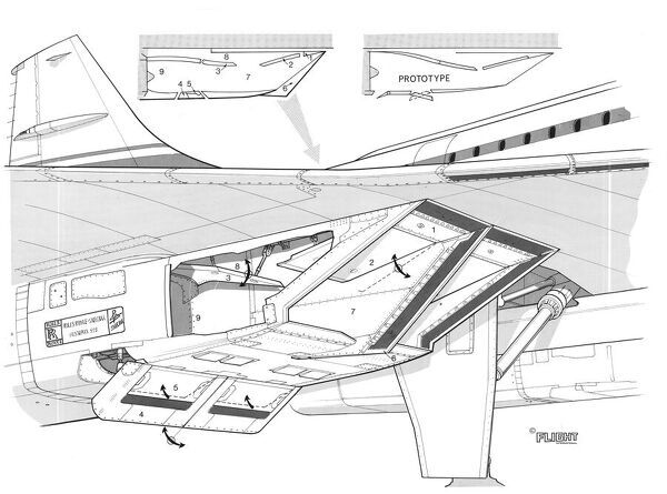 aerospatiale concorde modified intakes cutaway drawing