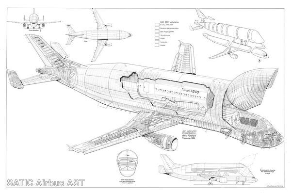 airbus satic a300 600 ast cutaway drawing