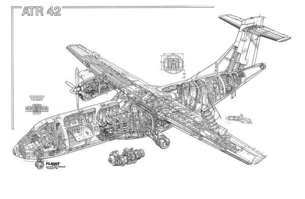 ATR 42 Cutaway Drawing Not to be reproduced without permission or payment