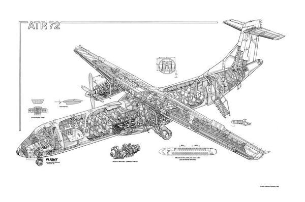 ATR 72 Cutaway Drawing Not to be reproduced without permission or payment