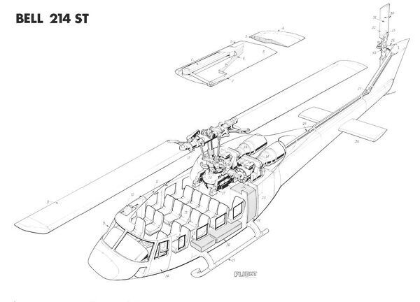bell 214 st cutaway drawing