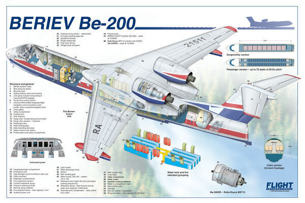 Beriev BE-200 Cutaway Poster. Copyright © RBI