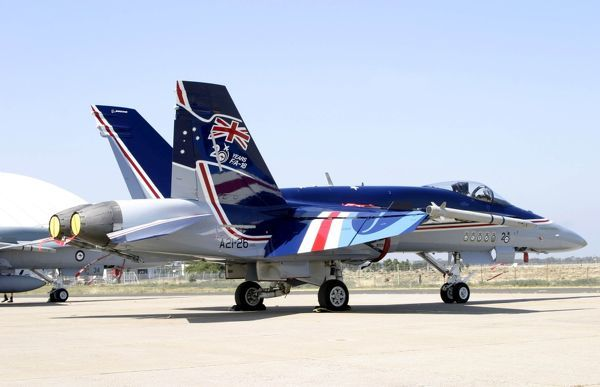 RAAF F-18 in special scheme at Avalon