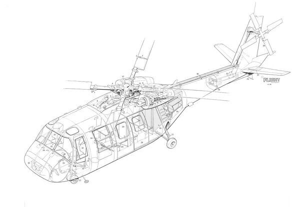 boeing helicopter concept cutaway drawing
