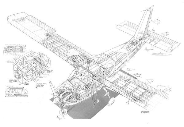 britten norman bn3 cutaway drawing