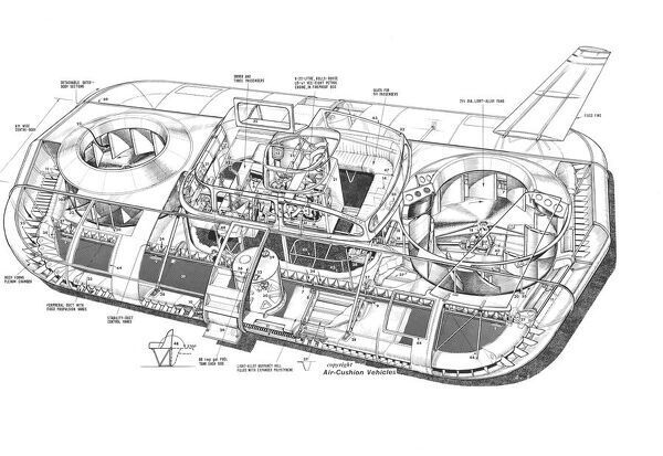 Britten Norman Cushioncraft CC-2 Cutaway Drawing