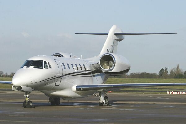 Citation X based in Ireland on the BHX ramp
