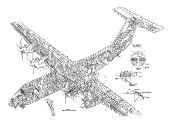 dhc dash 7 cutaway drawing