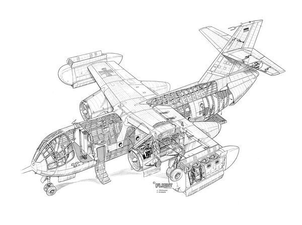 Dornier Do-31-E3 Cutaway Drawing