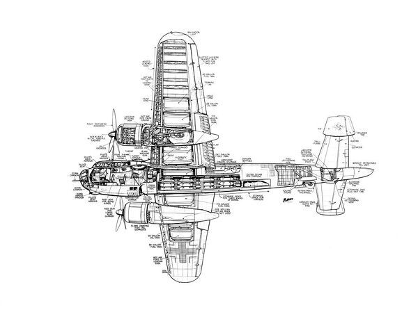 Dornier Do217 Cutaway Drawing