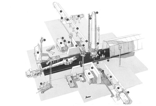 douglas thor missile site cutaway drawing