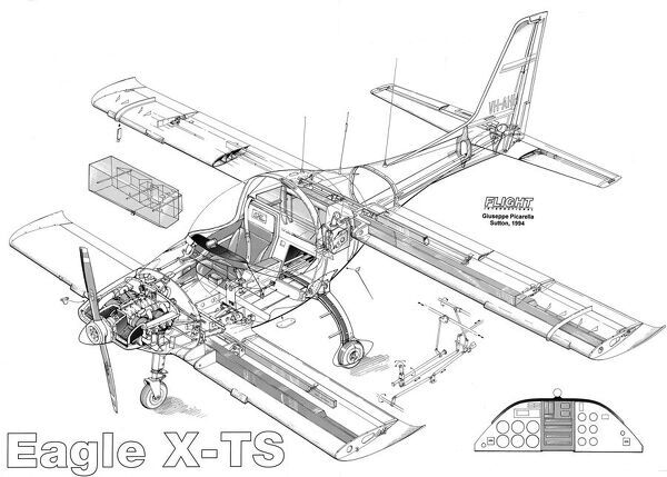 Eagle X-TS Cutaway Drawing