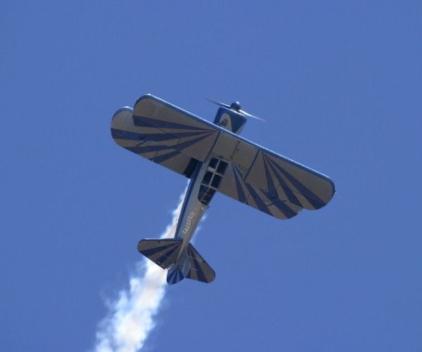 Stearman inverted over Avalon