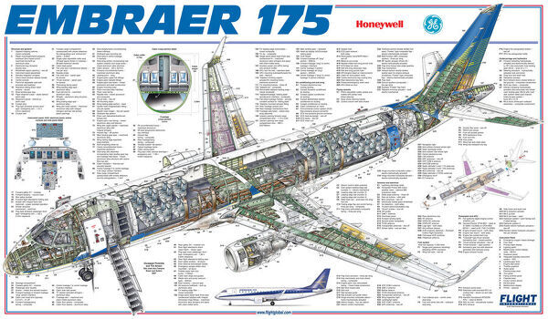 embraer 175 cutaway drawing