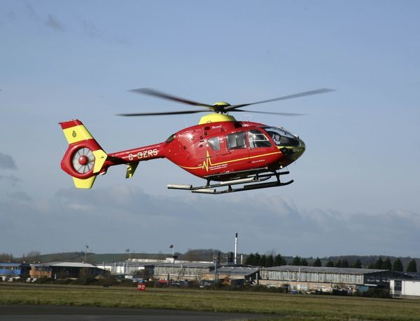 EC135 used as an Air Ambulance at Glos