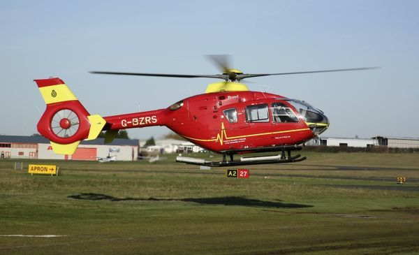 EC 135 used for Air Ambulance work - at Glos
