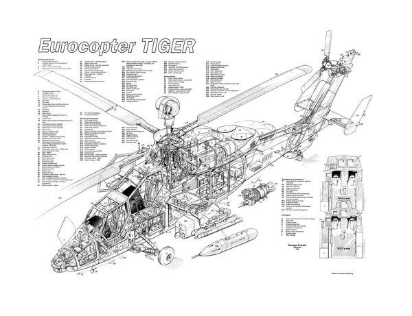 Eurocopter Tiger Cutaway Poster