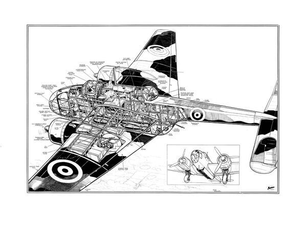 Handley Page HP52 Hampden Cutaway Drawing