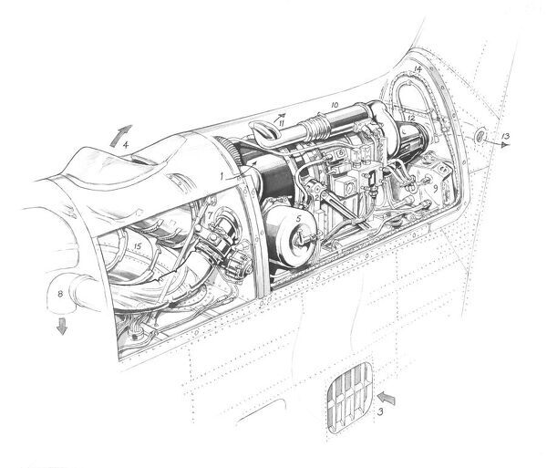 hawker siddeley trident 3b rb162 86 and ap cutaway drawing