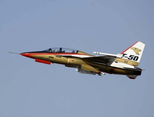 The T-50 Golden Eagle supersonic trainer