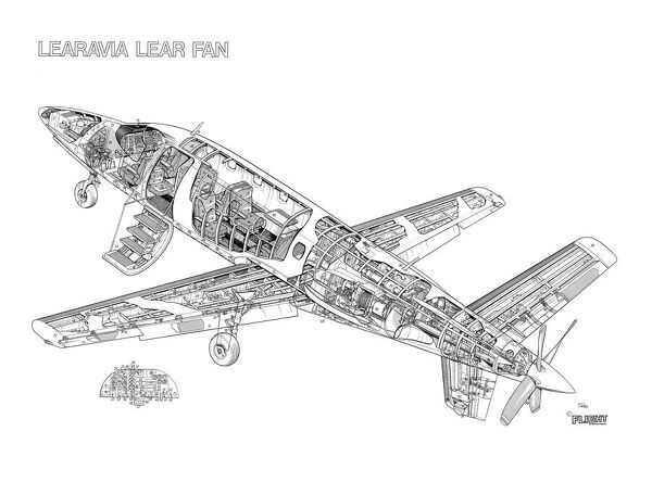 Learavia Learfan 2100 Cutaway Drawing