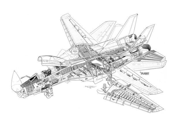 Northrop Grumman F-14A Tomcat Cutaway Drawing. Copyright © Flightglobal