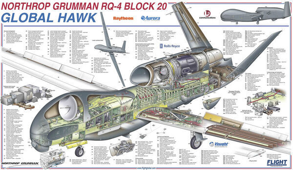 Northrop Grumman RQ-4 Global Hawk Block 20 Cutaway Poster