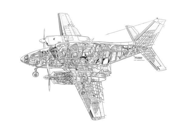 piper navajo chieftain cutaway drawing