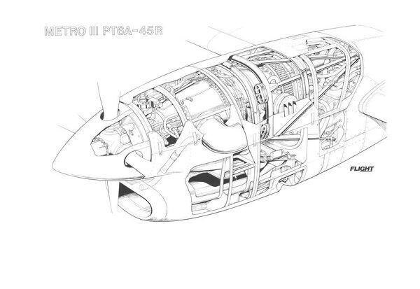 pratt and whitney canada pt6a 45r inst metro iii cutaway drawing