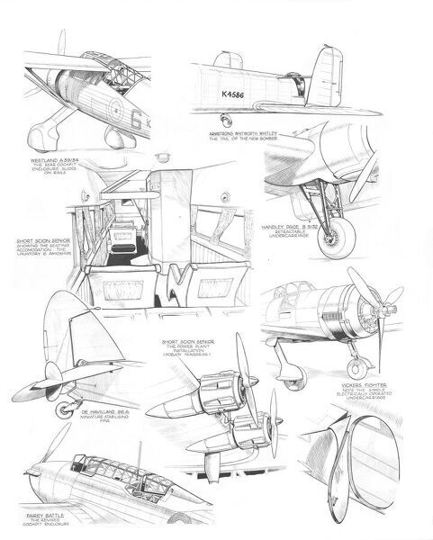 sbac hatfield sketches 1936 cutaway drawing
