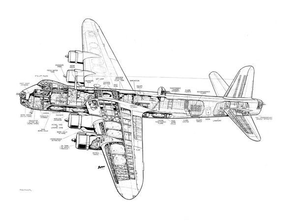 Short Stirling Cutaway Drawing