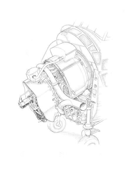 Sikorsky S-55 - Leonides Major installation Cutaway Drawing