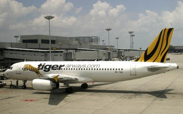 Tiger A.320 ready for pushback at Changi