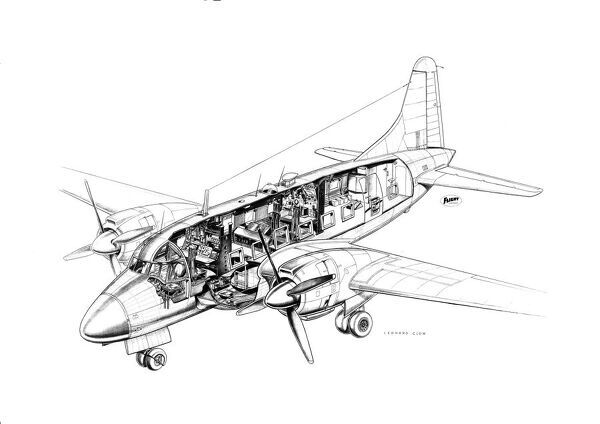 Vickers Varsity Cutaway Drawing