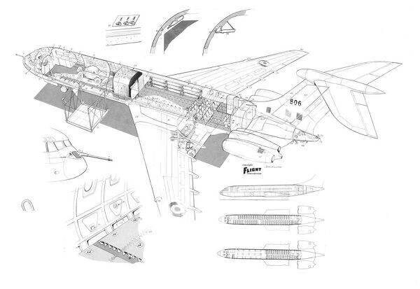 vickers vc10 raf cutaway drawing