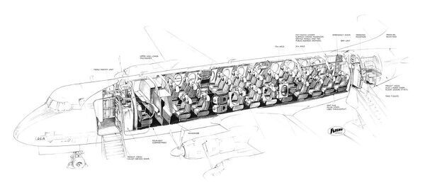 Vickers Viscount 802 Cutaway Drawing