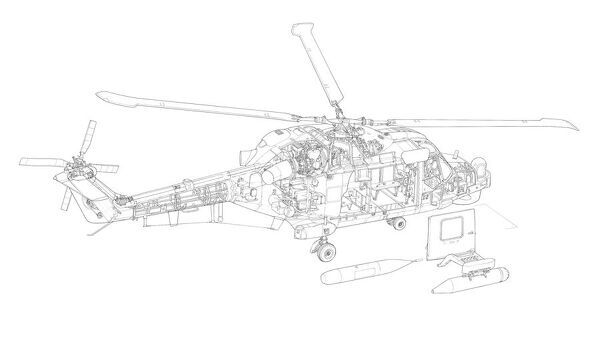 Westland Lynx HAS.3 Cutaway Drawing