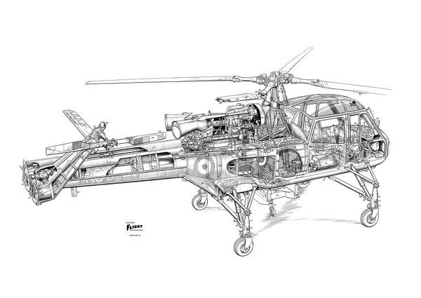 Westland Wasp Cutaway Drawing Photo Prints 1569333