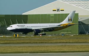 Airbus A300-600 Monarch at Manchester Airport