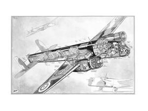 Armstrong Whitworth AW38 Whitley Cutaway Drawing