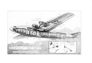 Armstrong Whitworth Ensign Cutaway Drawing
