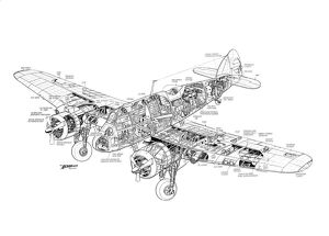 Bristol Beaufighter Cutaway Drawing