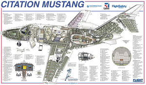 Cessna Citation Mustang Cutaway Poster