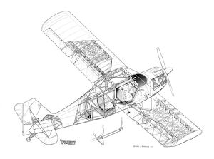 Champion Citabria Cutaway Drawing