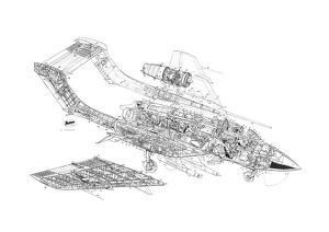 DH Sea Vixen Cutaway Drawing