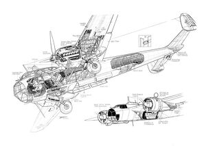 Dornier Do215 Cutaway Drawing