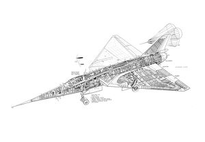 Fairey Delta II Cutaway Drawing