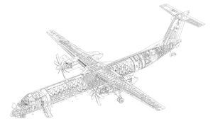 De Havilland Canada Dash 8-400 Cutaway Drawing
