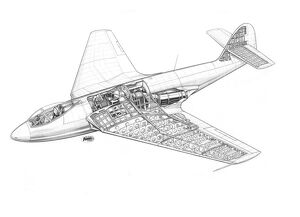 Hawker P1052 Cutaway Drawing