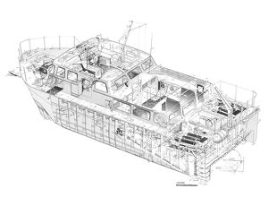 Hovermarine Survey Craft Cutaway Drawing